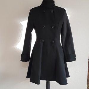 Fashionmia Black Pea Coat- Size Medium NWT